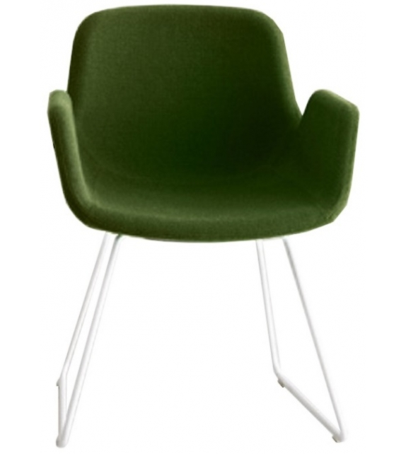 Pass Lapalma Upholstered Chair with Sled Base
