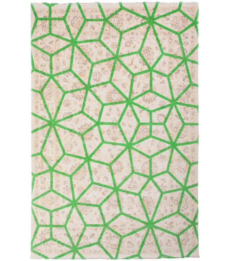 Double Layer Green Nodus Rug