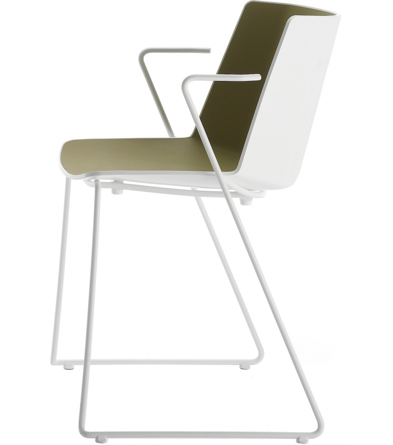 a ku mdf italia chair with sled base milia shop. Black Bedroom Furniture Sets. Home Design Ideas