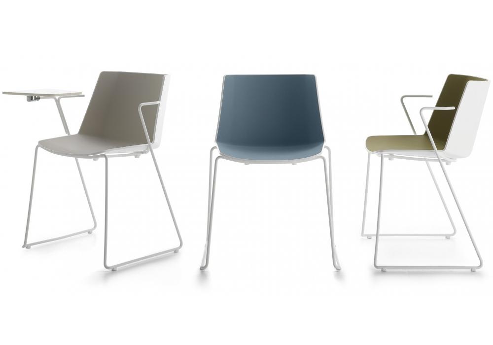 a ku mdf italia chaise avec traineau milia shop. Black Bedroom Furniture Sets. Home Design Ideas