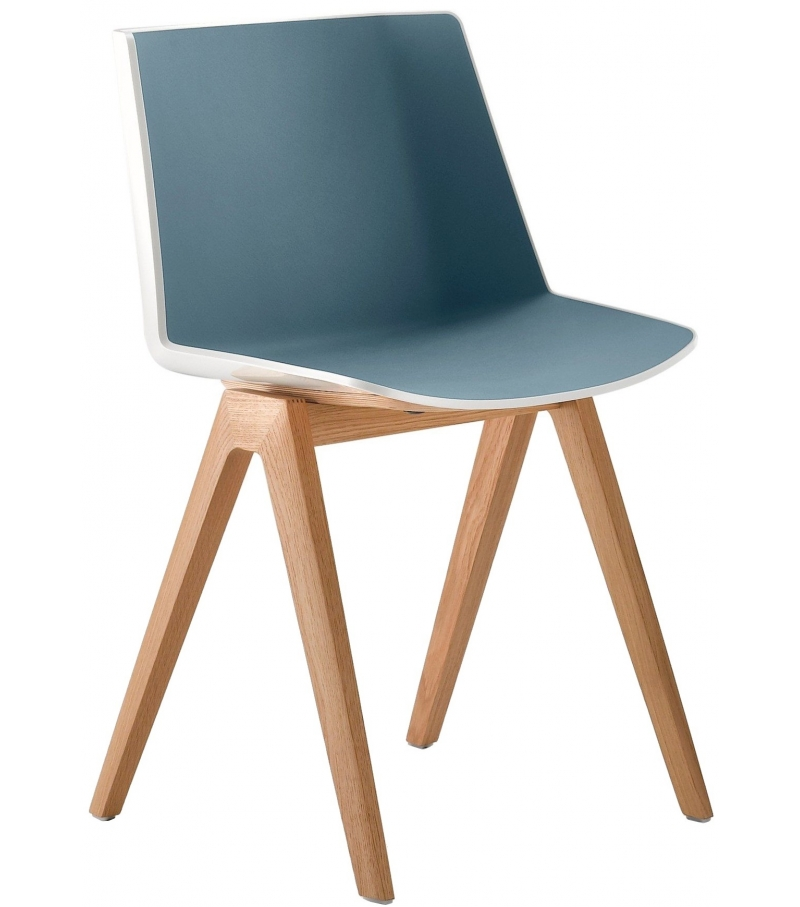 AÏku mdf italia chair with wooden legs milia shop