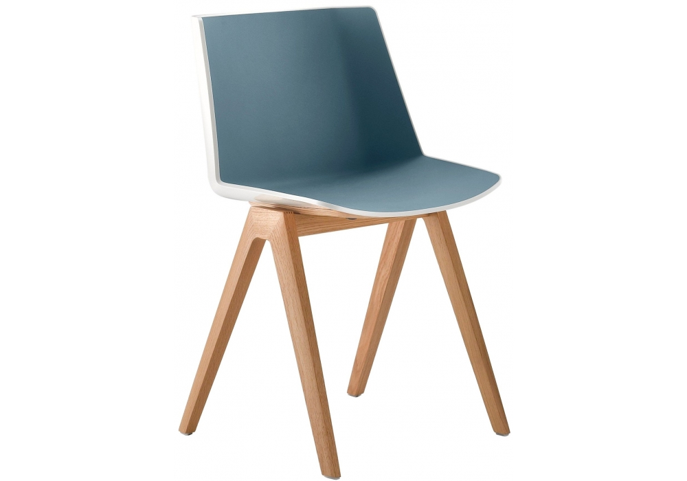 a ku mdf italia chair with wooden legs milia shop. Black Bedroom Furniture Sets. Home Design Ideas