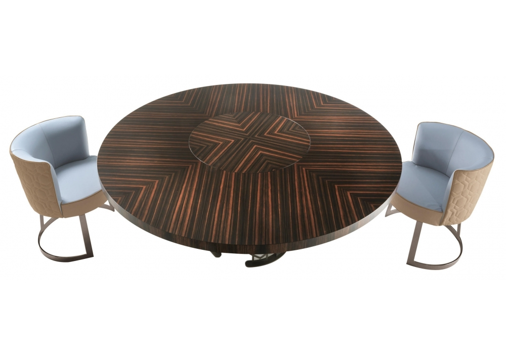 Pleasant Clairmont Longhi Table With Rotating Tray Milia Shop Ocoug Best Dining Table And Chair Ideas Images Ocougorg
