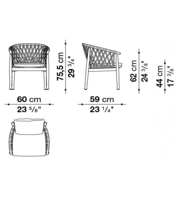 Ginestra B&B Italia Chair Outdoor