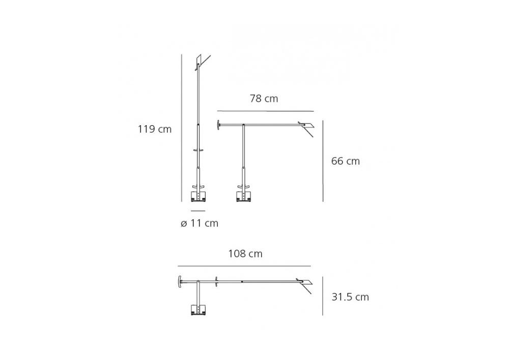 Tizio LED Lampada Da Tavolo Artemide   Milia Shop -> Lampada Tavolo Artemide Tizio