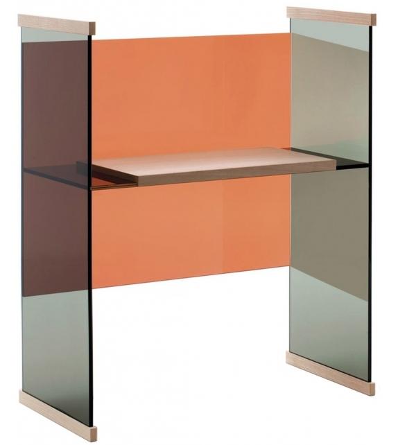 Diapositive Nieder Schreibtisch Glas Italia