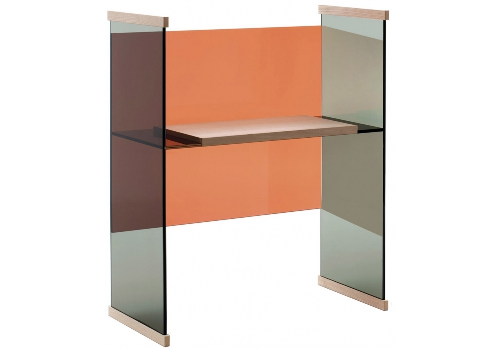 Diapositive faible bureau glas italia milia shop for Bureau faible largeur