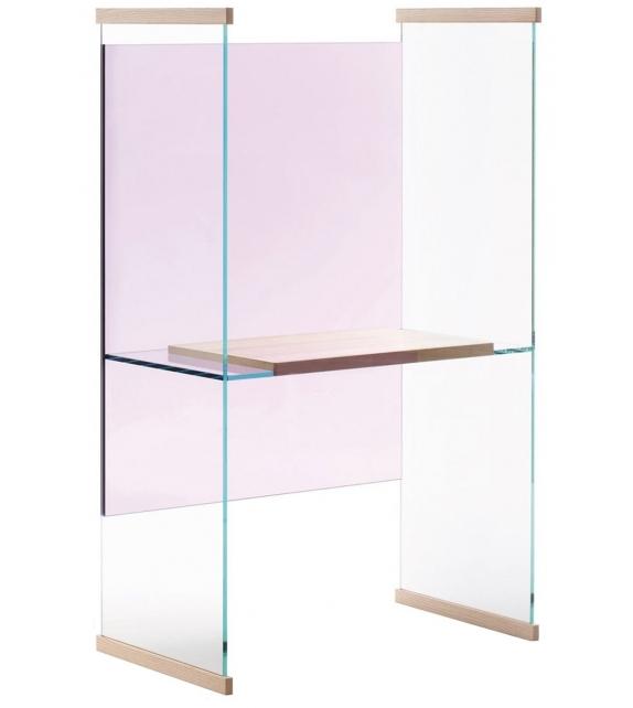 Eckschreibtisch glas  Diapositive Hoch Schreibtisch Glas Italia