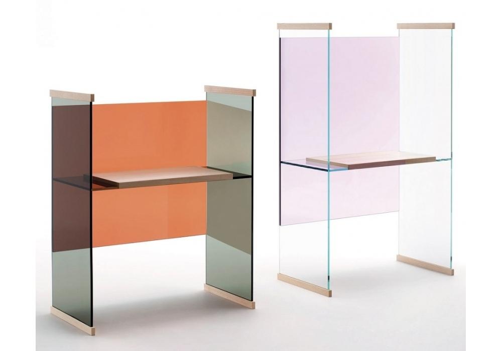 Diapositive hoch schreibtisch glas italia milia shop for Schreibtisch hoch
