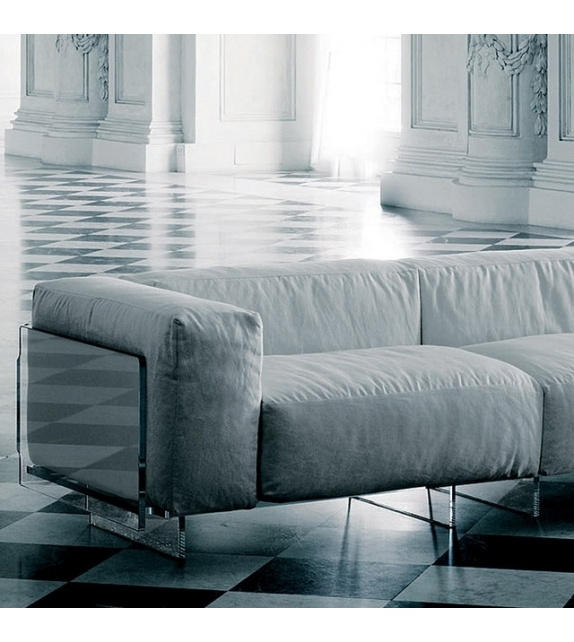 crystal lounge zweiersofa glas italia milia shop. Black Bedroom Furniture Sets. Home Design Ideas
