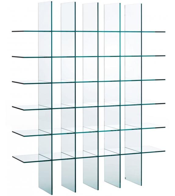 Glass shelves (1976) Bibliothèque Glas Italia