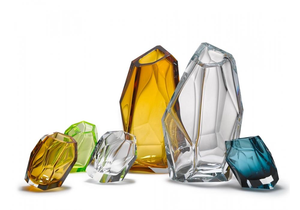 crystal rock lasvit vase milia shop. Black Bedroom Furniture Sets. Home Design Ideas