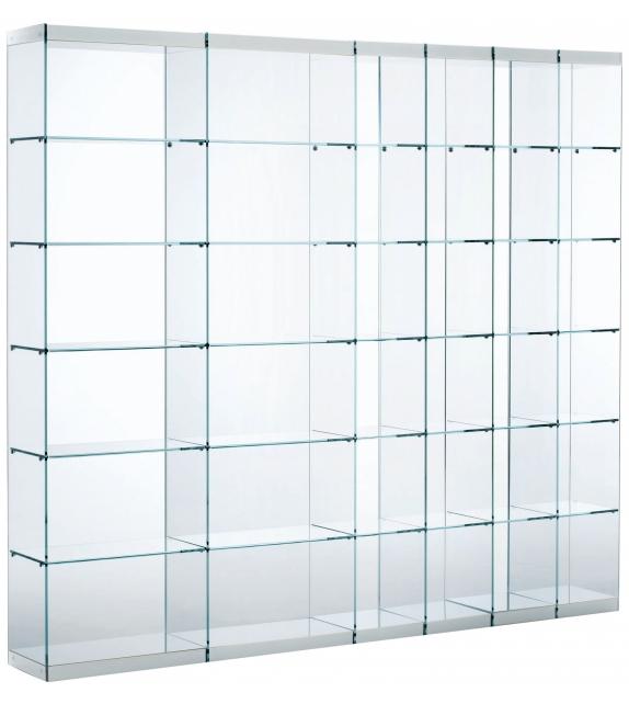 bücherregal mit glas
