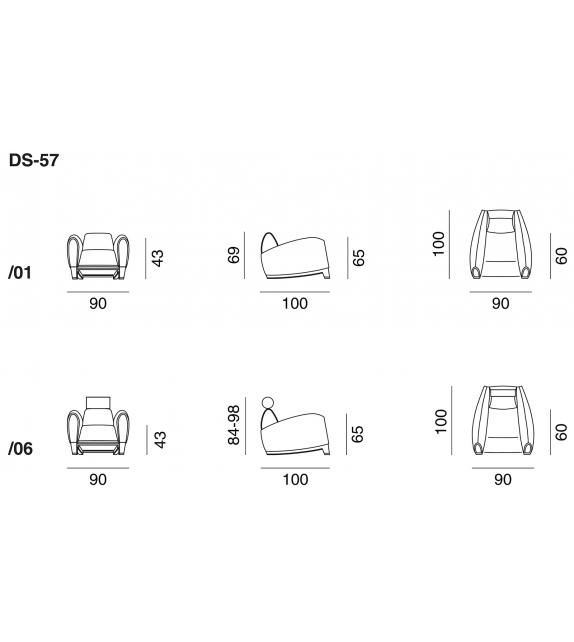 DS-57 De Sede Armchair