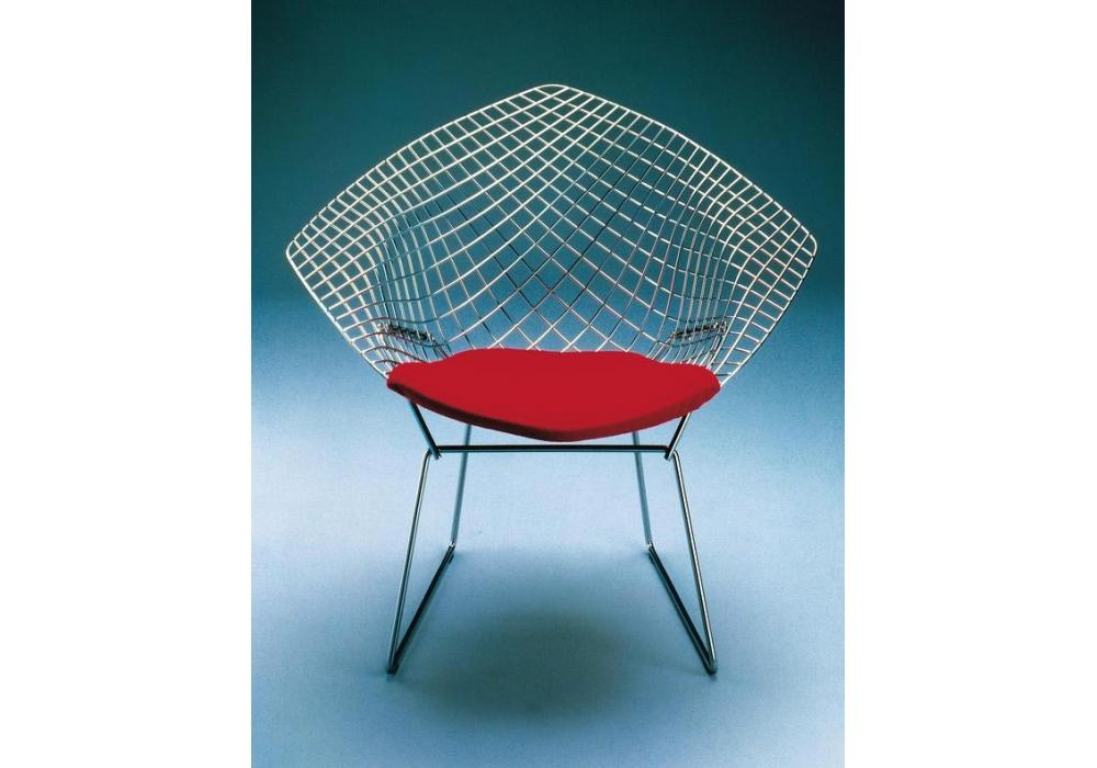 Bertoia diamond chair with cushion knoll milia shop - Chaise bertoia occasion ...