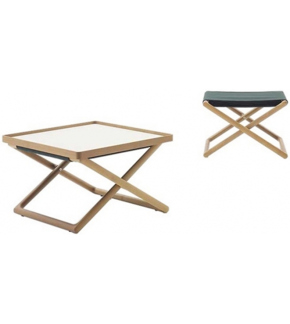 Portofino Paola Lenti Stool-Side Table
