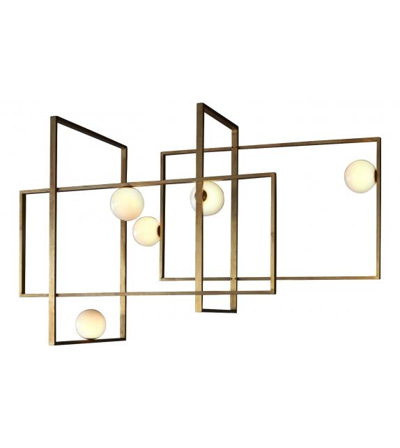 Mondrian Glass Venicem Lámpara de Techo