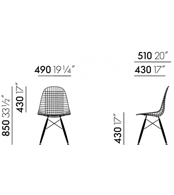Wire Chair DKW Chair Vitra