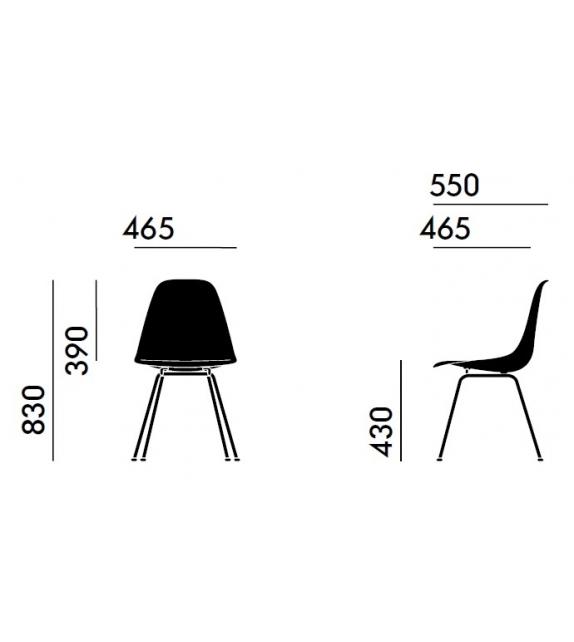 Eames Plastic Side Chair DSX Polster Stuhl Vitra