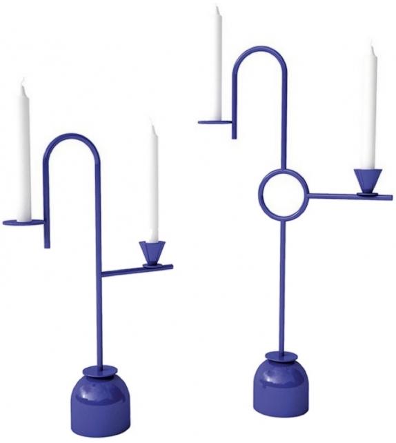 Blue Candleholders Cappellini Soporte para Velas