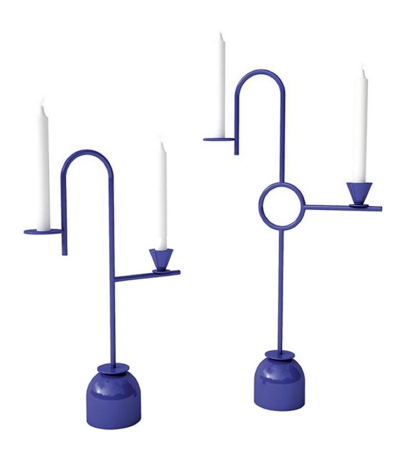 Blue Candleholders Cappellini Bougeoir