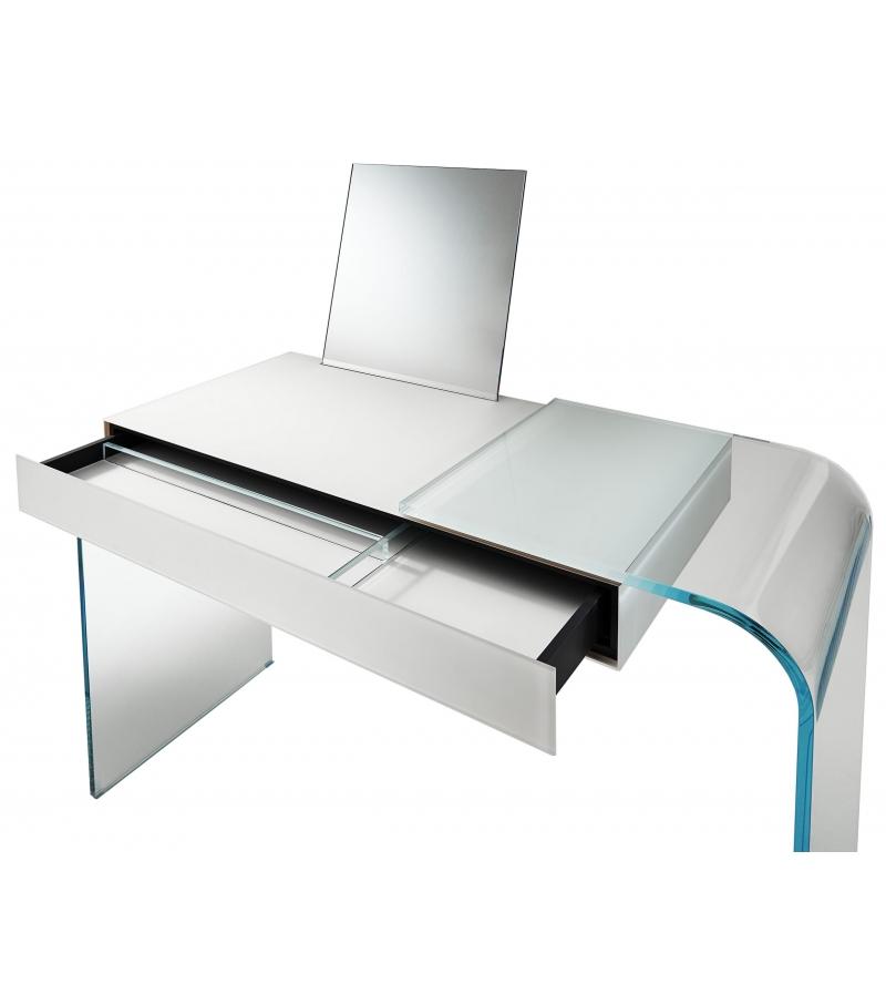 Eckschreibtisch glas  Strata Glas Italia Desk