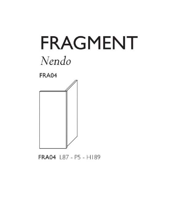 Fragment Glas Italia Separè