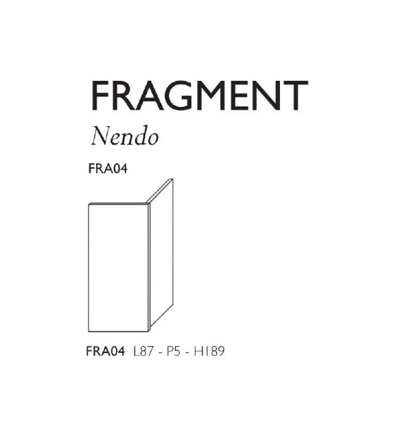 Fragment Glas Italia Wandschirm