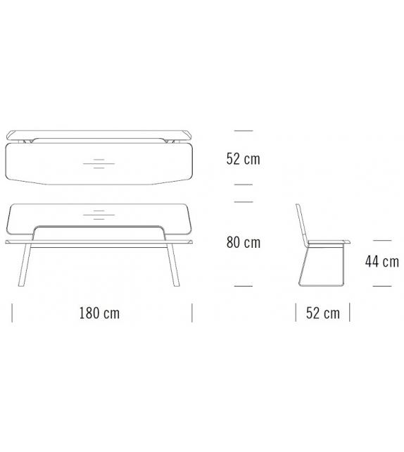 S 1095 Thonet Bench