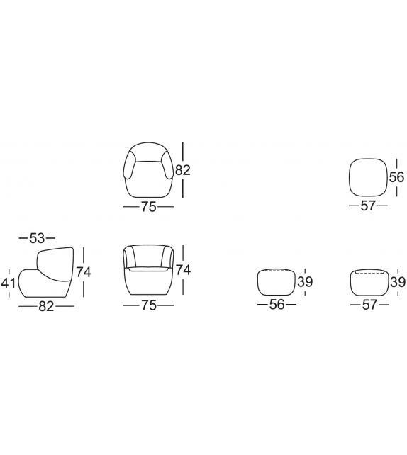 384 rolf benz sessel milia shop. Black Bedroom Furniture Sets. Home Design Ideas