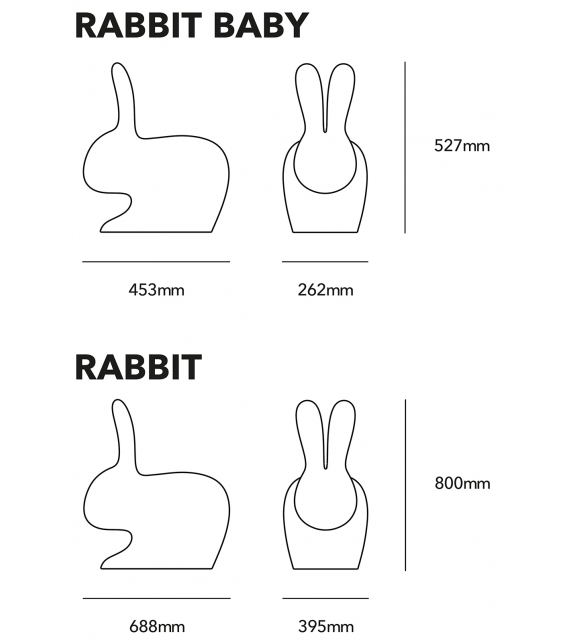 Rabbit Qeeboo Outdoor Chair
