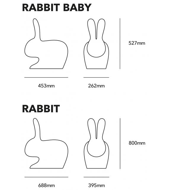 Rabbit Qeeboo Sedia Outdoor