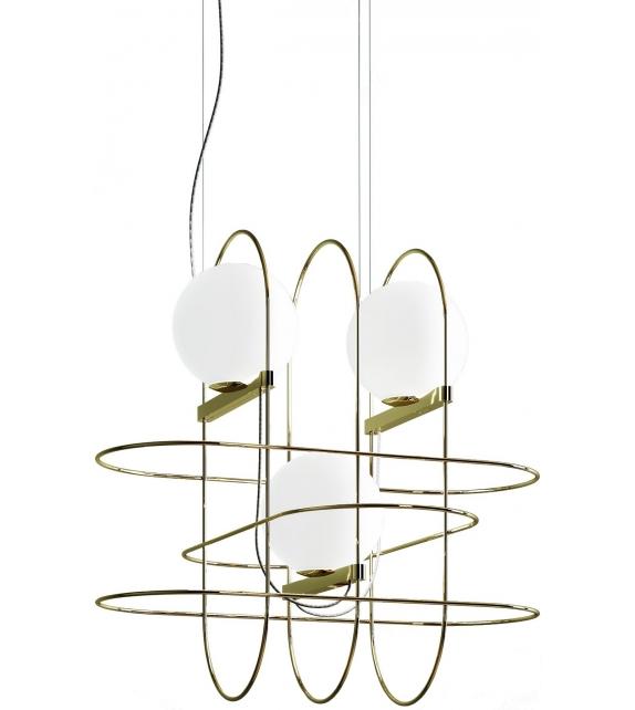 Setareh Fontana Arte Suspension Lamp with 3 Spheres