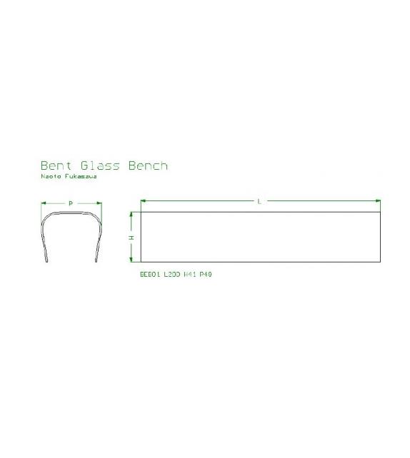 Bent glass bench