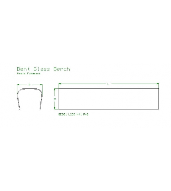 Bent glass bench