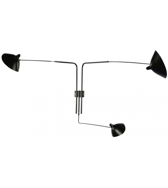 Sconce 3 Rotating Straight Arms Serge Mouille