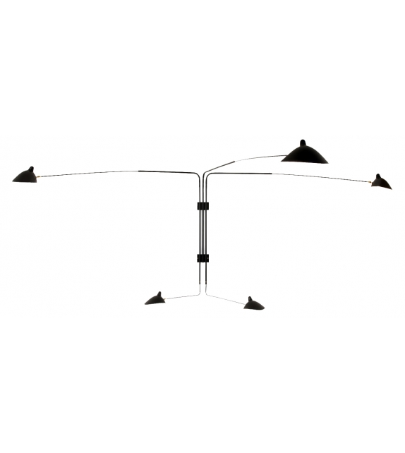 Sconce 5 Rotating Straight Arms Serge Mouille