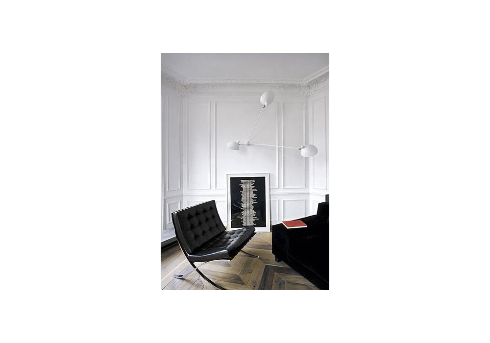 applique araign e 3 bras fixes serge mouille milia shop. Black Bedroom Furniture Sets. Home Design Ideas