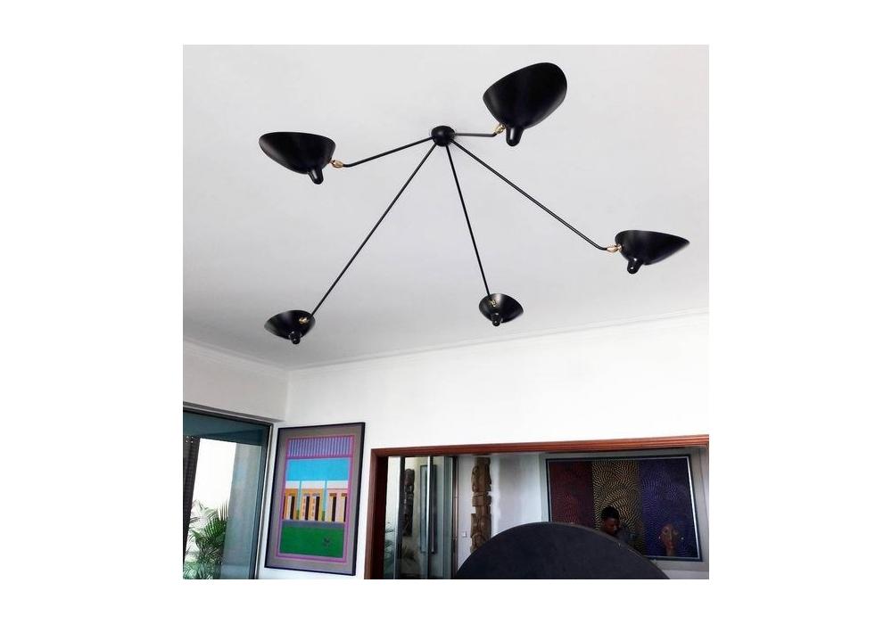 plafonnier araign e 5 bras fixes serge mouille milia shop. Black Bedroom Furniture Sets. Home Design Ideas