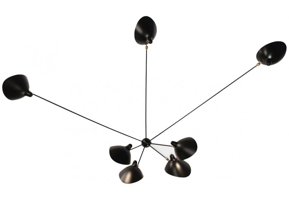 applique araign e 7 bras fixes serge mouille milia shop. Black Bedroom Furniture Sets. Home Design Ideas