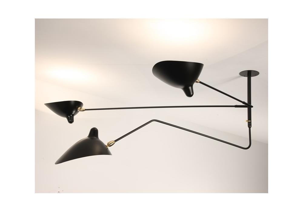 suspension 2 bras fixes 1 courbe pivotants serge mouille milia shop. Black Bedroom Furniture Sets. Home Design Ideas