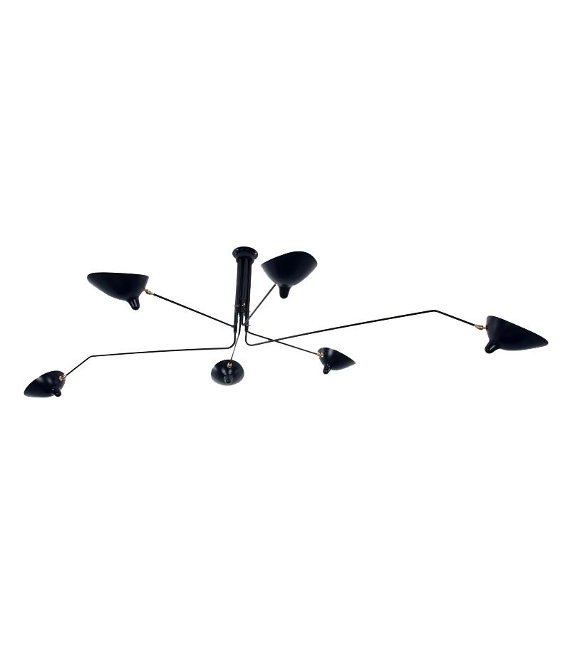ceiling lamp 6 rotating arms serge mouille milia shop. Black Bedroom Furniture Sets. Home Design Ideas