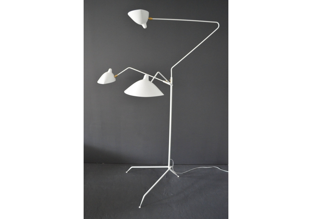 Standing lamp 3 arms serge mouille milia shop Serge mouille three arm floor lamp