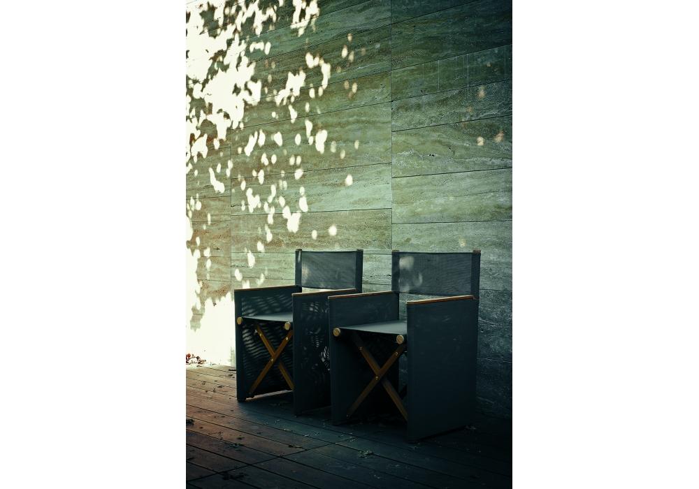 Sedia da regista arredas pieghevole legno naturale e cotone ecru p