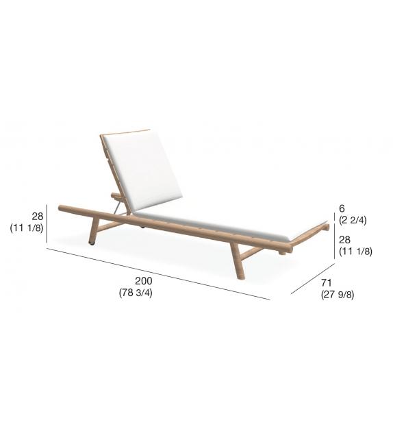Orson 008 Sunlounger With Cushion Roda