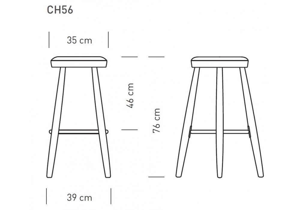 CH56 Carl Hansen & Søn Bar Hocker - Milia Shop
