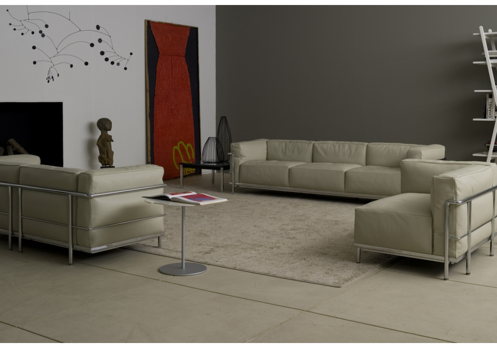 Lc3 three seater sofa cassina milia shop - Meridienne le corbusier ...