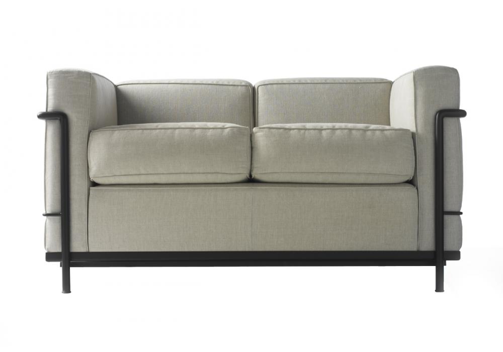 lc2 zweiersofa cassina milia shop. Black Bedroom Furniture Sets. Home Design Ideas