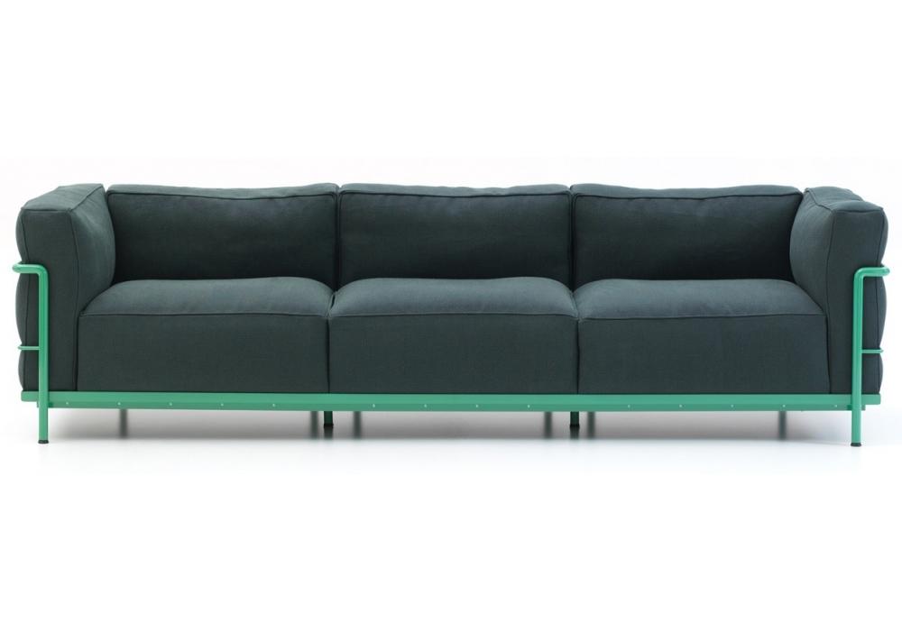 lc2 dreiersofa cassina milia shop. Black Bedroom Furniture Sets. Home Design Ideas