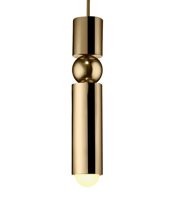Fulcrum Light Brass Lee Broom Lámpara de Suspensión
